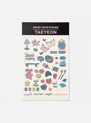 TAEYEON ARTIST TATTOO STICKER