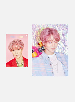 YESUNG HOLOGRAM CARD HOLDER SET - Pink Magic