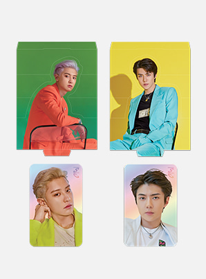 EXO-SC HOLOGRAM PHOTO CARD SET - What a Life