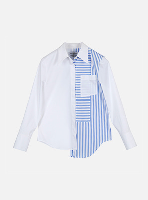 [STYLIST &P!CK] CLUE DE CLARE Stripe Pattern Shirt
