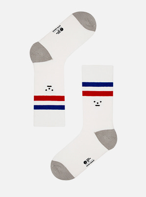 Socks appeal SML TWO STRIPE WHITE SOCKS