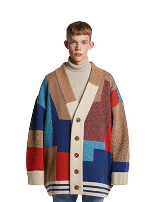 [STYLIST &P!CK] TRUNKPROJECT Color Mixed Wool Cardigan Jacket Multi.B